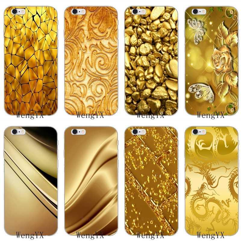 Золотого цвета с принтом дракона цветочным узором Мягкий силиконовый чехол для телефона для Xiaomi mi 6 A1 5 5S 5x mi x max 2 Red mi обратите внимание на возраст 3, 4, 5, 5A pro plus