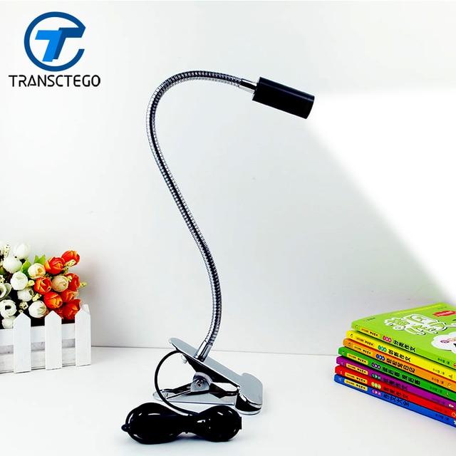 Elegant TRANSCTEGO LED Table Study Lamp Desk Light Clamp Lamps Holder Of Small  Table Led Click Lights