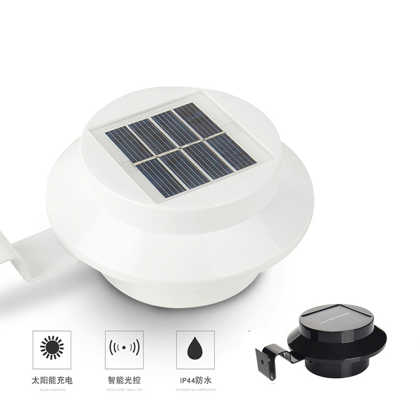 Solar Lights Roof: 3 LED Solar Powered Outdoor Lights Lamp Fence Gutter Roof
