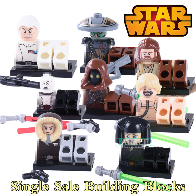 Star wars Luna Han solo enpo Jawa Embo Wullf Yularen diy figures Collection Building Blocks Kids DIY Educational Toys PG8037 1pc imperial death trooper rogue one 75156 diy figures star wars superheroes assemble building blocks kids diy toys xmas