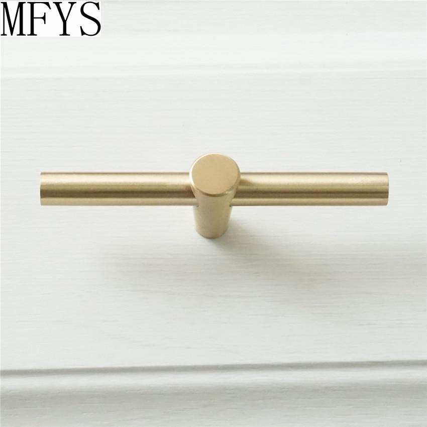 1pc T Bar Knobs Pulls Pure Copper Kitchen Cabinet Door Handles