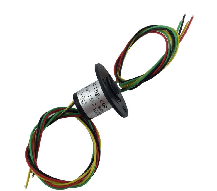 M slipring Mini Capsule Slip ring Dia.12.5mm 4 Channels 2A MSM-12-04A Can rotate 360 degrees zsr022 3r20a capsule slip ring for automatic arm slip rings 3 channel 20a large current compact slip ring out dia 22mm