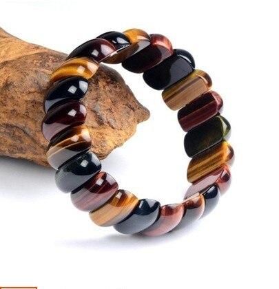 Natural Do Olho Tigre Pulseira Pedra África Sul S Vermelho Amarelo Cor Azul De