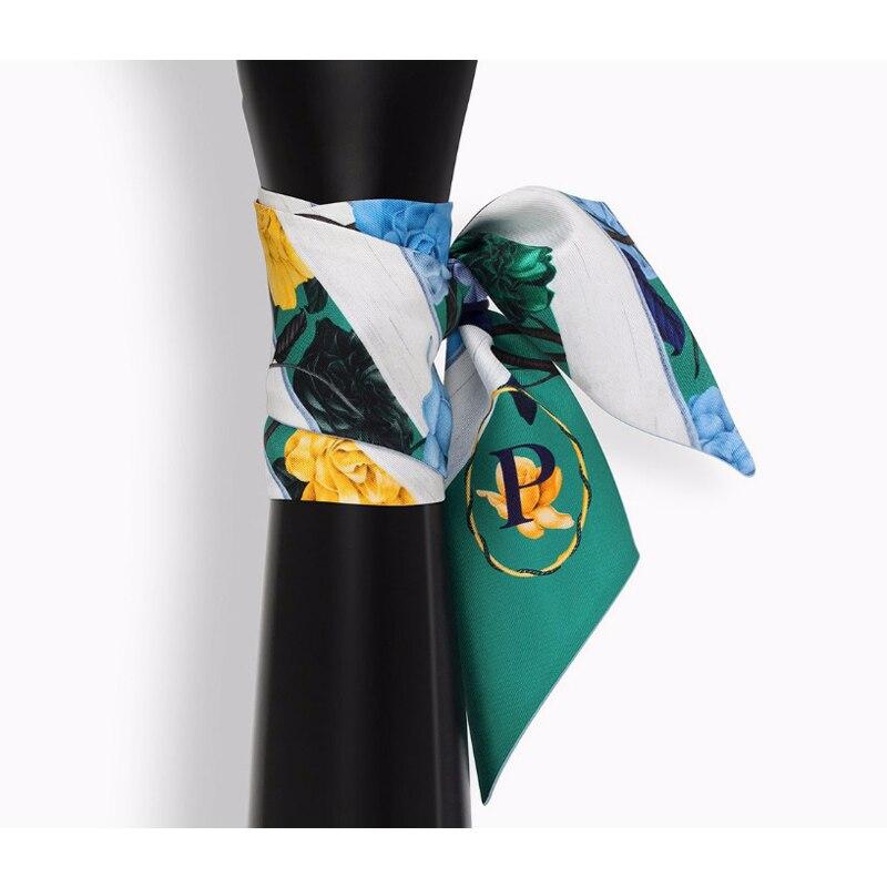 Bright Skinny Scarf Letter A-Z Fashion Choker Women Digital Print Ribbon Headband Stylish Hand Bag Handle Decoration NEW [1269]