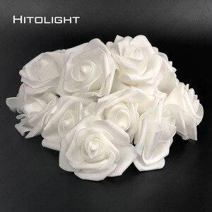 Image 3 - 2M 20LED แบตเตอรี่ดำเนินการ LED Rose ดอกไม้คริสต์มาสสตริงไฟสำหรับงานแต่งงานวันวาเลนไทน์ PARTY ตกแต่ง Garland