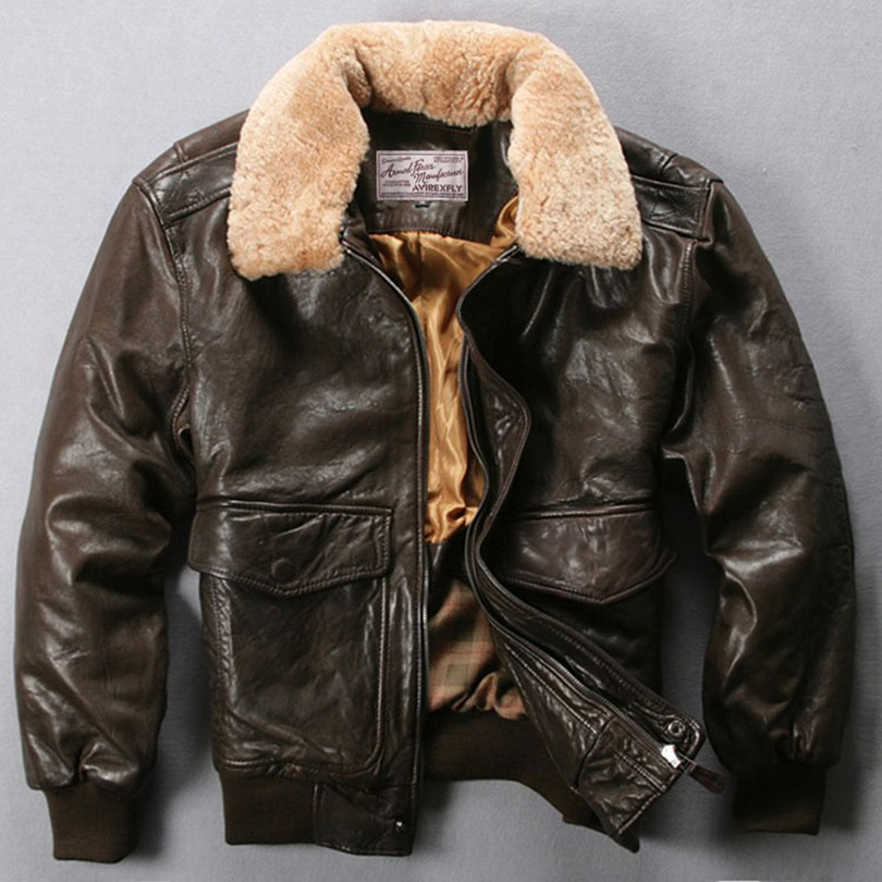 High Quality Brown Leather Bomber-Buy Cheap Brown Leather Bomber ...