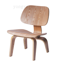 Minimalist Style Lounge Chair Plywood ,Designer Living Room Furniture Chair  High Quality Modern Wood Color