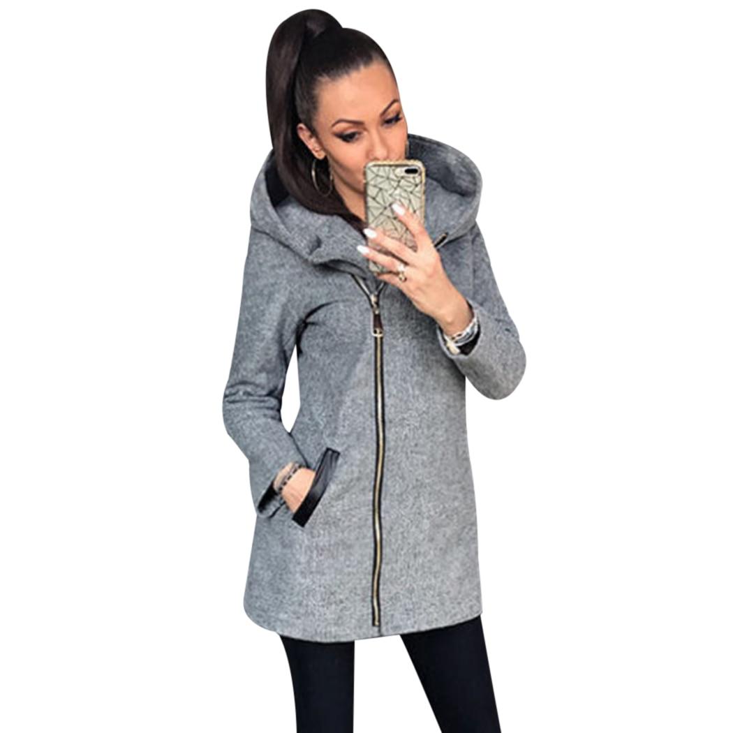 2018 Women Thicken Warm Winter Hooded Coats Zipper Jackets Fashion Parka Overcoats Ladies Hoodies Jacket Outwear Windbreaker