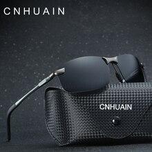 CNHUAIN Aluminum Magnesium Men's Sunglasses Polarized Brand Classic Sun Glasses For Men Driver Driving Glasses Male Black 2016
