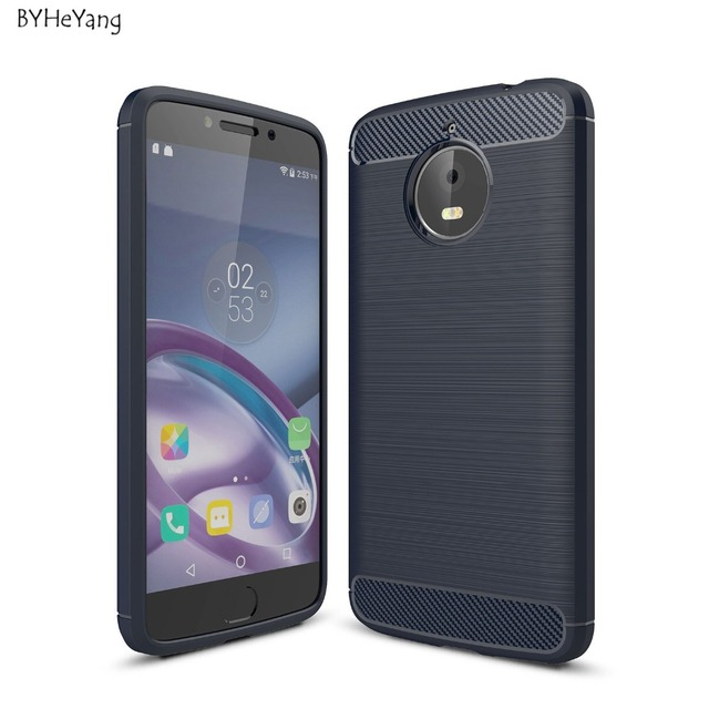 more photos 250d8 01970 US $2.07 6% OFF|BYHeYang For Motorola Moto E4 Plus Case Carbon Fiber Soft  Silicone Cover Shockproof Slim Protection Phone Shell For Moto E4 Plus-in  ...