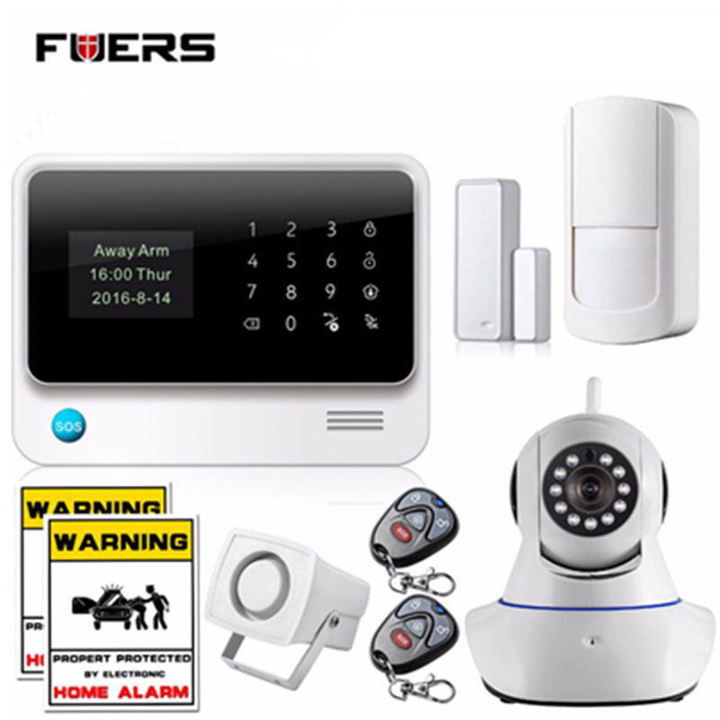 Fuers Russian Spanish English French voice 2G WiFi Alarm System Home Security GSM Alarm System with