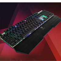 TEAM WOLF X20 Wireless USB Gaming Mechanical Keyboard LED Backlight Blue Switch and palm rest