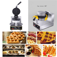 Waffle Machine Stainless Steel Waffle Baker Non stick Electric Waffle Iron Maker Cake Oven EU/UK Plug