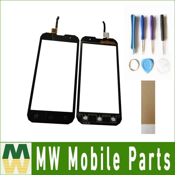 1PC/ Lot 5.0inch For Geotel G1 3G Cellphone IP67 Waterproof MTK6580A Touch screen Touch Plane Digitizer Black Color with Tape