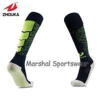 Top quality soccer socks,wholesale price, green point rubber Non-slip,black match