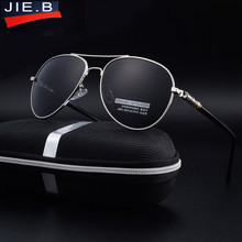JIE.B 2017 New Hot brand designer Aluminum Magnesium Polarized Sun Glasses Driving Male Fashion Oculos men sunglasses