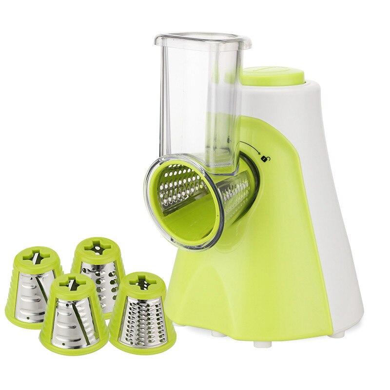 Cortadora eléctrica multifuncional de frutas y verduras cortadora de zanahoria cortadora de patatas cuchilla de acero inoxidable cortador para ensalada UE