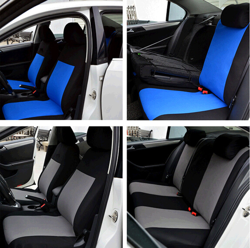 BLACK BLUE PROTECTIVE UNIVERSAL CAR SEAT COVERS FOR NISSAN MICRA VW LUPOFREE SHIPPING In Automobiles Seat Covers From Motorcycles On