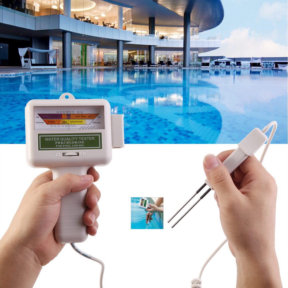 Chlorine Level Meter Digital Water Quality Monitor Portable Ph Tester Plastic Shell Swimming