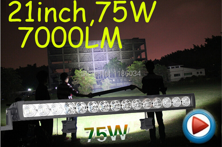 Free DHL ship!1pcs/set,21inch 75W 7000LM,10~30V,6500K,LED working bar,Boat,Bridge,Truck,SUV Offroad car,black!15W 60W 45W dhl free 2014 r2 2015 r1 red multidiag pro with bluetooth vd tcs cdp 21 languages full set 8pcs car cables for cars