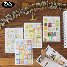 4pcs/lot Retro little prince folded stamp decorative stickers Diary Scrapbook child DIY stationery Supplies