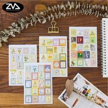 цена на 4pcs/lot Retro little prince folded stamp decorative stickers Diary Scrapbook decorative stickers child DIY stationery Supplies