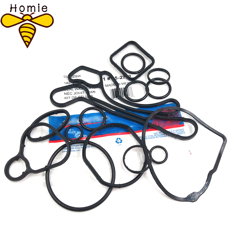 (10set/lot)Cooling System Seal Oil Cooler Gasket Seals OEM# <font><b>24445723</b></font> 55354071 For Chevrolet Cruze 1.6L 1.8L Sonic Astra Zafira image