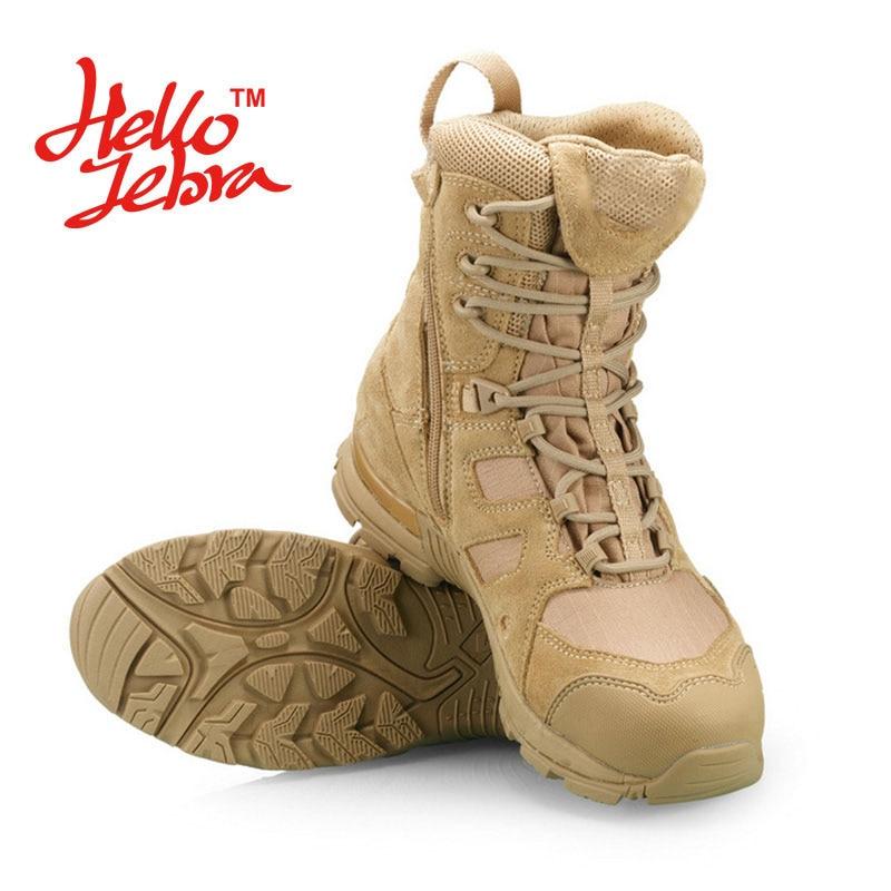 Hellozebra Fashion Martin Boots Men Outdoor Hike Ride Desert Combat Tactical Boots Mid-Calf Patshwork Beathable 2016 Summer New double buckle cross straps mid calf boots