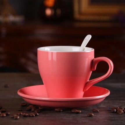 Ensemble de tasse à café et soucoupe en céramique créative 300 ml grande capacité de tasse cappuccino latte Lahua