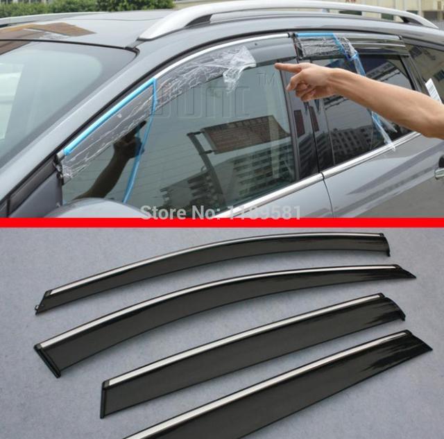 For Volks-wagen Passat 2011 2012 2013 2014 2015 2016 2017 2018 coches DERIVABRISAS sombra ventana de la puerta lateral Visera deflector lluvia Guardia lluvia de Sun Guardia deflector Guardia cubiertas