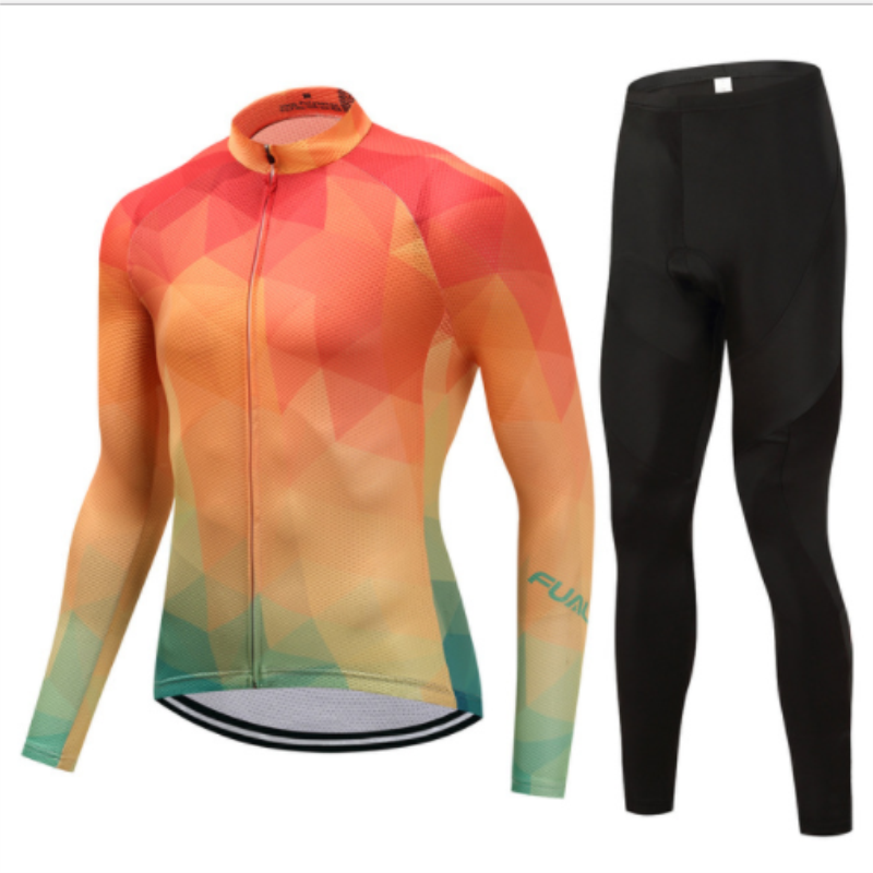 2017 new FUALRNY mountain bike bicycle long sleeve riding suit Ropa Maillot Ciclismo breathable quick-drying bike clothing