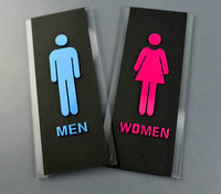 Men and Women Bathroom sign Acrylic toilet sign