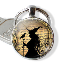 Halloween Witch Pumpkin Cat Keychain Pendant Men Women Fashion Trick or Treat Key chain Witch Jewelry Halloween Party Gift(China)
