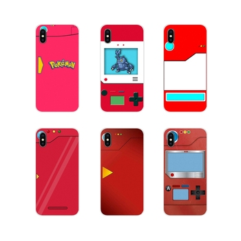 Transparent TPU Shell Cover Pour Red Pokedex Alt Art Poster For Samsung Galaxy A5 A6S A7 A8 A9S Star J4 J6 J7 J8 Prime Plus 2018 image