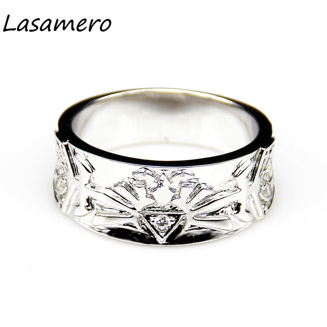 lasamero zelda triforce 01ct round cut simulated diamond wedding band for men video game ring - Zelda Wedding Ring