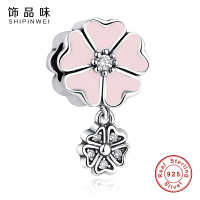 New Arrival 100 925 Sterling Silver Primrose Clip Charm Beads Fit Original Pandora Bracelet Authentic Fashion