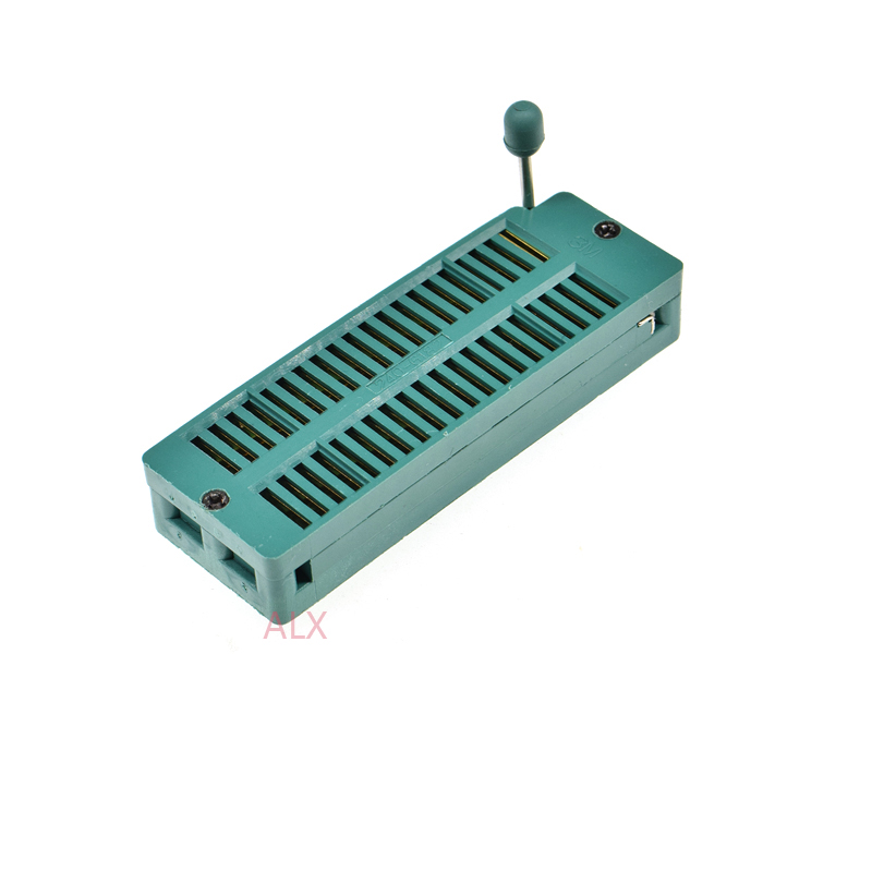 Lighting Accessories 1pcs Green Wide Body Dip40 Zif Zip Ic Socket 40p Dip Chip Test Adaptor 40 Pin Dip-40 40pin 2.54mm Pitch Connector For Pcb