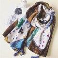 НОВАЯ Весна ретро Чешский национальный ветер картина маслом хлопок и лен женский шарф классический пингвинов и простой шаблон шаль