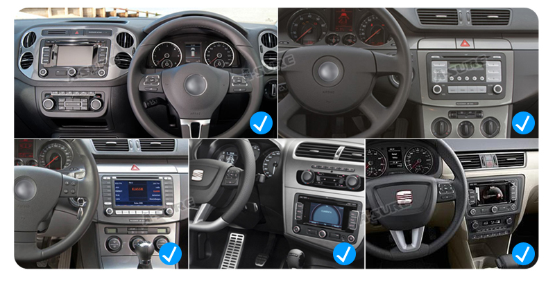 Android 9.0 VW PASSAT TIGUAN Golf 7 2 Din GPS DVD DAB + 66