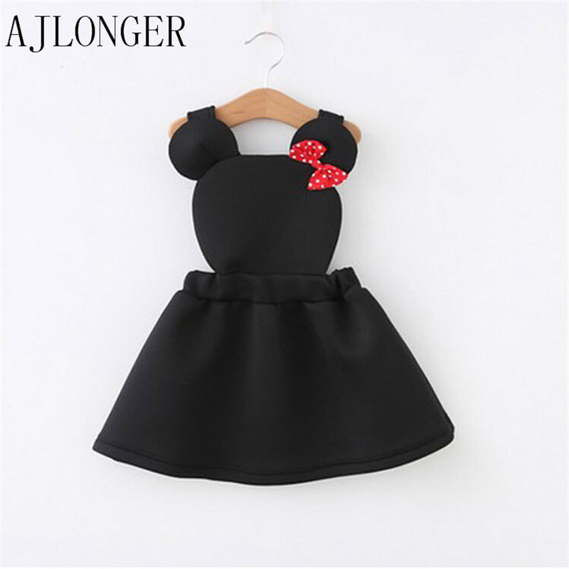 New 2016 Girl Dresses Cute Cartoon Children Clothing Kids Girls Dress Clothes