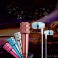 3.5mm Mini KTV Singing Karaoke Microphone w/ Earphone For Mobile Phone
