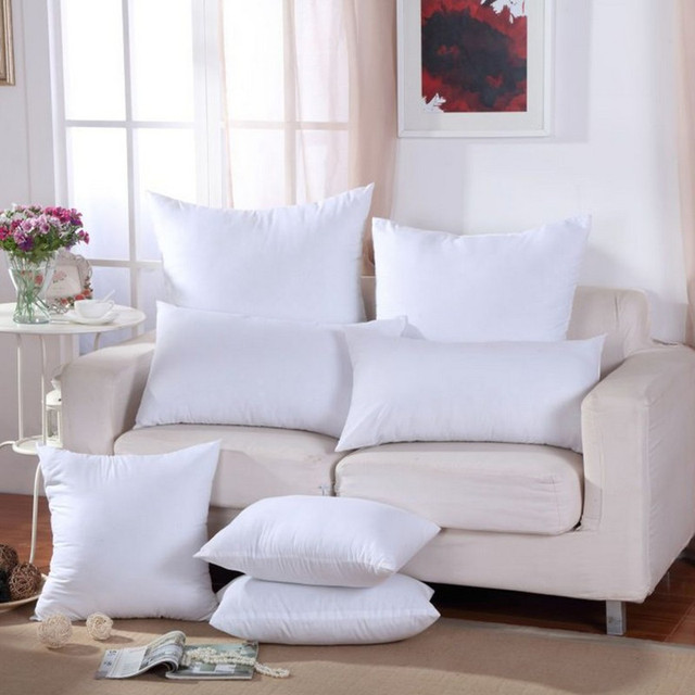Clásico tamaño 9 sólido puro cojín Core suave divertido almohada interior relleno de algodón PP personalizado cuidado de la salud almohada de llenado