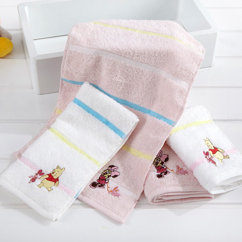 Disney 135*70/50*25/34*33 Cm Cartoon Aimation Towels Authorized Items Mickey Series Bath Towels Square Children Towels