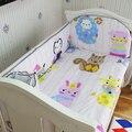 ¡ Promoción! 5 UNIDS ropa de cama cuna fija 100% algodón cortina cuna parachoques cuna parachoques, incluya: (bumpers + hoja)