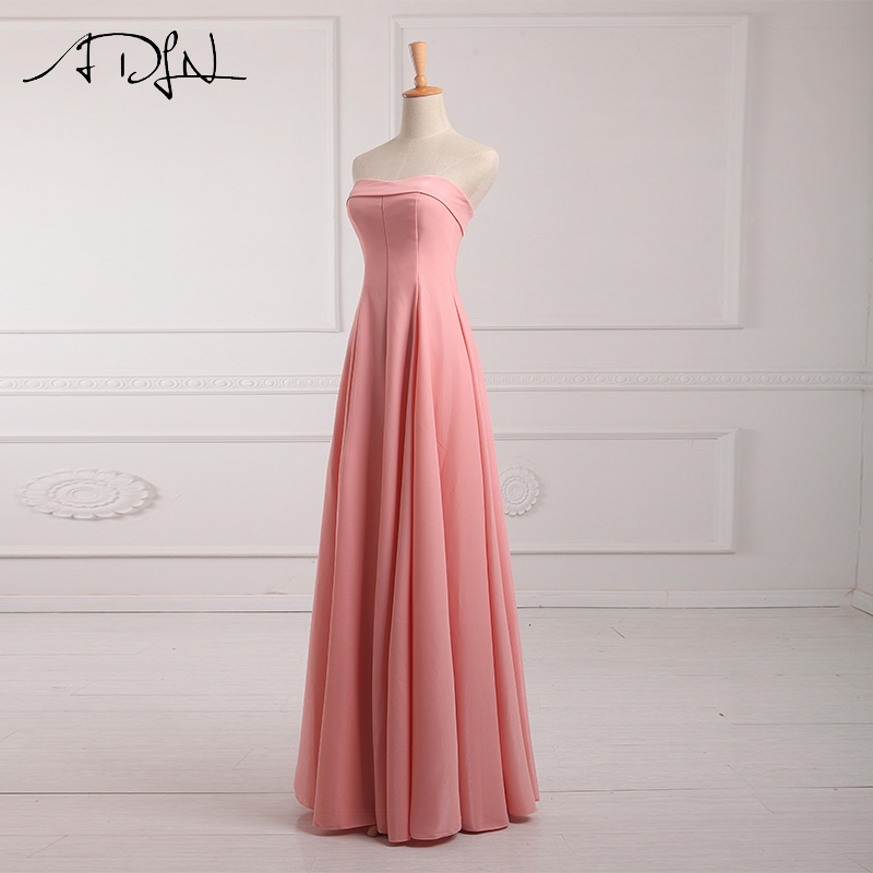ADLN Strapless Long Bridesmaid Dresses vestido madrinha longo robe de demoiselles d honneur pour mariage imported party dress 6