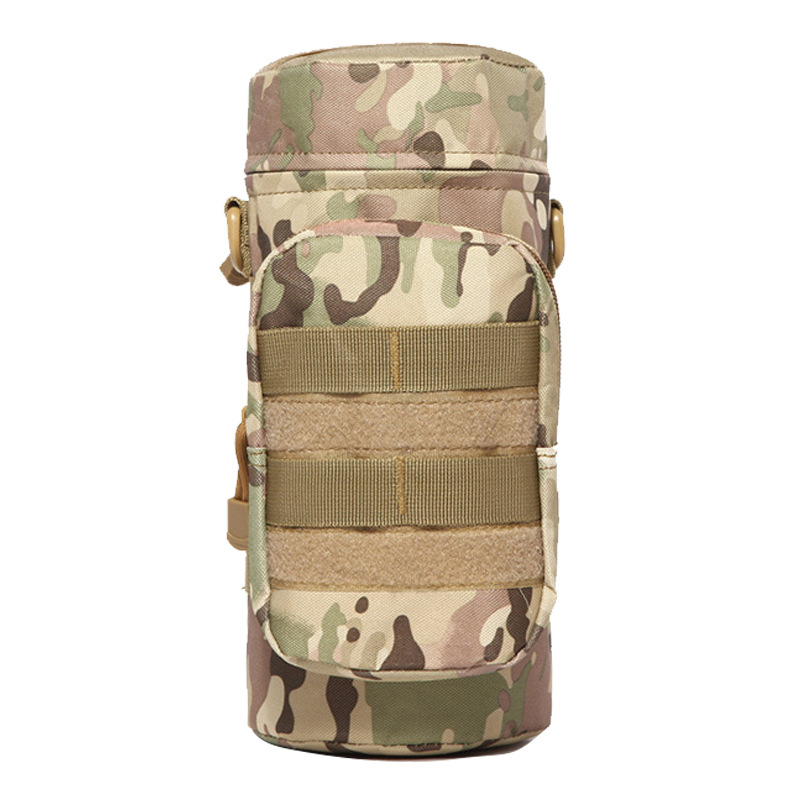 Image 4 - Outdoor Sports Tactical Water Bottle Bags Military Durable Hiking Water Bottle Pouch Nylon Camping Climbing Kettle Bags-in Water Bags from Sports & Entertainment