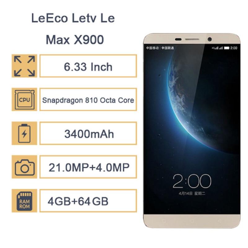Новый LeEco Letv Le Max X900 6,33 Восьмиядерный процессор Snapdragon 810 NFC 4 Гб ОЗУ 64 Гб ПЗУ мобильный телефон 2560*1440 две sim карты 21 МП отпечаток пальца - 3