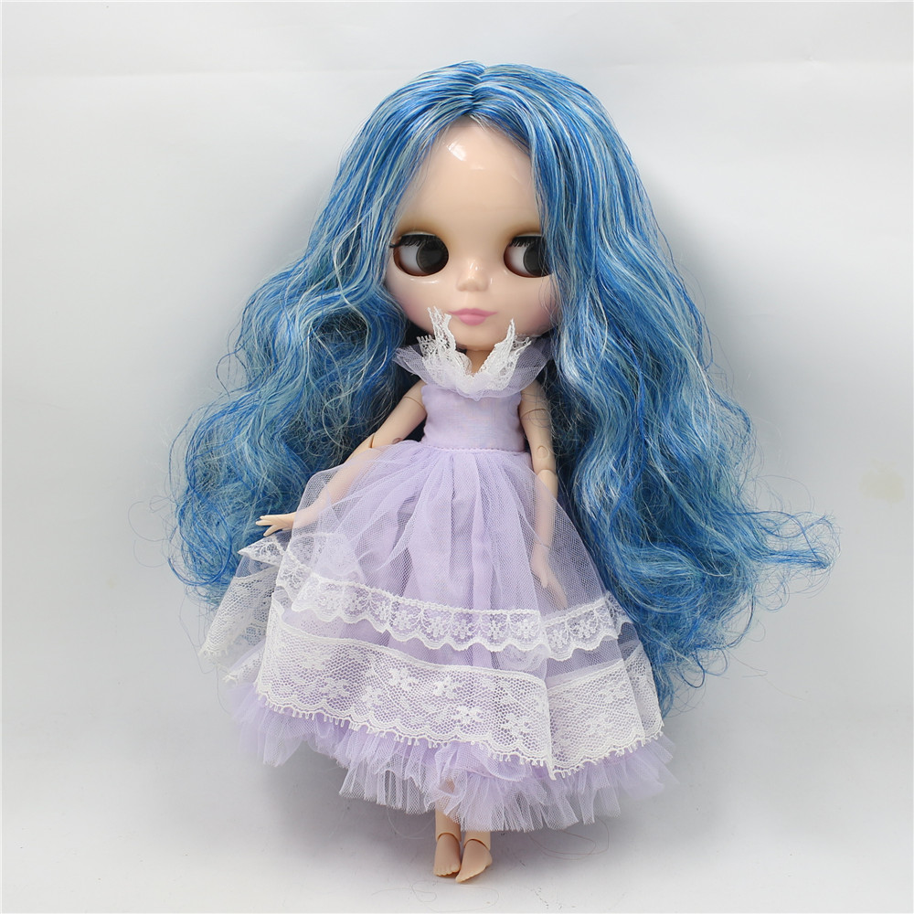 все цены на ICY factory bjd Toy Gift neo nude blyth doll blue mix mint hair centre parting joint body 1/6 30cm doll 280BL1714/4006