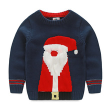 LittleSpring Children's Clothing Christmas Gift Thanksgiving Clothes Long Sleeve Santa Clothes Sweater Boy Winter Knit Pullover