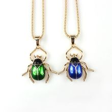 1 PC Living Enamel Scarab Bug Beetle Pendant Necklace Insect Animal Fashion Jewelry Unisex